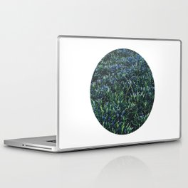 Planetary Bodies - Blue Flowers Laptop & iPad Skin