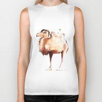 camel Biker Tanks featuring Camel by Katrin Kadelke