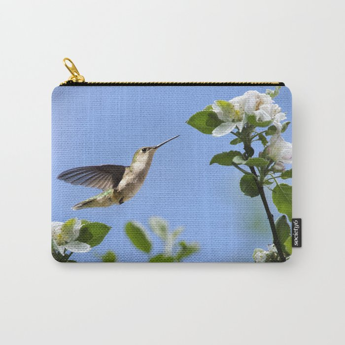 Spring Hummingbird Carry-All Pouch