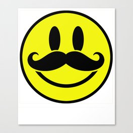 Mustache Smile Have A Nice Day Canvas Print