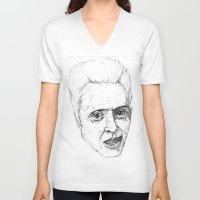 christopher walken V-neck T-shirts featuring Christopher Walken by Chuck Jackson