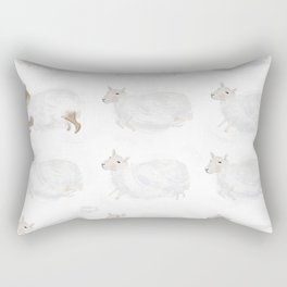 Sheep and Clouds Rectangular Pillow