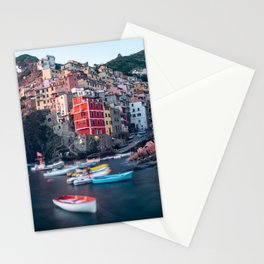WHITE - AND - RED - BOAT - ON - WATER - NEAR - BROWN - CONCRETE - BUILDINGS - PHOTOGRAPHY Stationery Cards