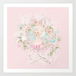 Marie Antoinette Chinoiserie Tea Time Art Print