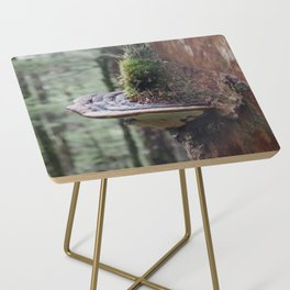 Magical Fungi World   Nature Photography Side Table