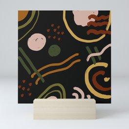 Abstraction. Series: Oil Paint Smears. Culinary fantasy.  Breakfast. Mini Art Print