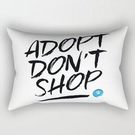 Adopt Don't Shop Rectangular Pillow