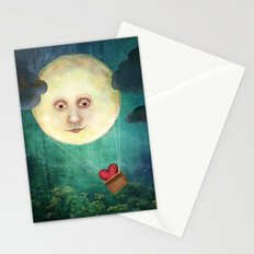Love you to the Moon Stationery Cards