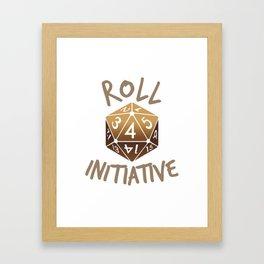 Roll For Initiative Framed Art Print