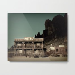Old West Hotel fine art photography Metal Print