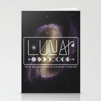 lunar Stationery Cards featuring Lunar by Nate Compton