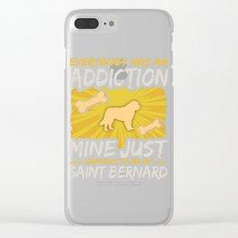 Saint Bernard  Funny Dog Addiction Clear iPhone Case