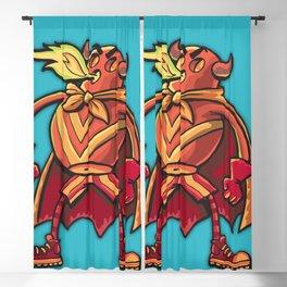 Super hero Flame-man Blackout Curtain