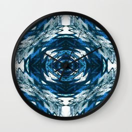 The Native in  Blue.... Wall Clock
