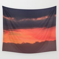 bands Wall Tapestries featuring Sunrise bands by IowaShots
