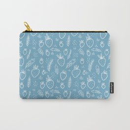 Winter Strawberry Garden Carry-All Pouch
