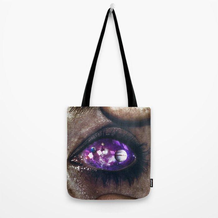 Ojos color galaxia Tote Bag