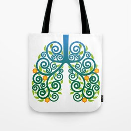 Healthy lung Tote Bag