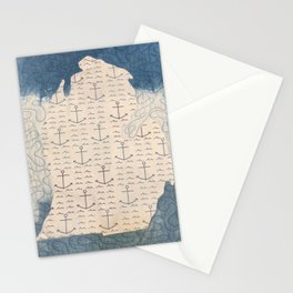 Quilted Nautical Michigan Stationery Cards