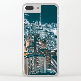 Toronto in the dark Clear iPhone Case