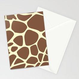 Animal Print (Giraffe Pattern) - Brown Yellow Stationery Cards