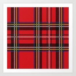red kilt Art Print