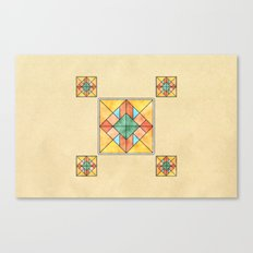 Watercolored Tiles Canvas Print