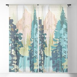 Forest Falls Sheer Curtain