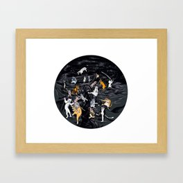 Meowlin Temple Framed Art Print