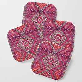 N118 - Pink Colored Oriental Traditional Bohemian Moroccan Artwork. Coaster