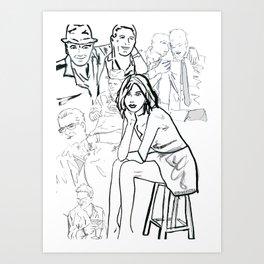 Ghosts of Charlie Sheen Art Print