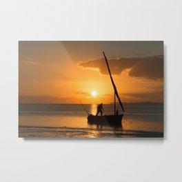 Sunrise in Vilanculos Metal Print