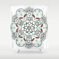 et Shower Curtains featuring ET Mandala by eyebeka