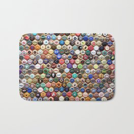 Beer and Ale Bottle Caps Bath Mat