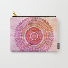 Watercolor Mandala in warm pastel colors Carry-All Pouch