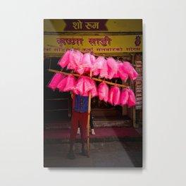 Candy floss, Kathmandu, Nepal Metal Print