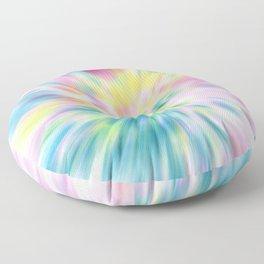Pastel Explosion Tie Dye Abstract Floor Pillow