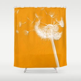 Tangerine Dandelion  Shower Curtain