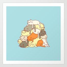 Meowtain Art Print