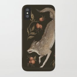 The Wolf and Rose Hips iPhone Case