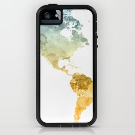 World Map Watercolor #3 iPhone Case