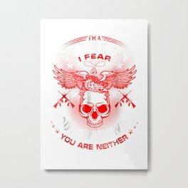 Im A Veteran Shirt Fear God And My Wife   Veteran Gifts Metal Print