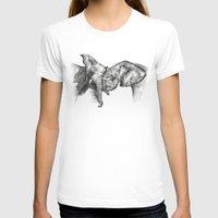 elephants T-shirts featuring elephants by Lyudmila Kuguk