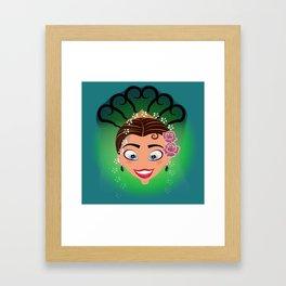 Tuti-Lady Flamenquerías/Character & Art Toy (Open eyes) Framed Art Print