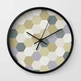 Hexagon Delight Wall Clock