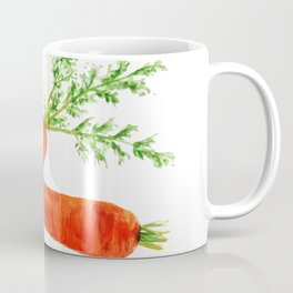 orange carrot watercolor painting Coffee Mug