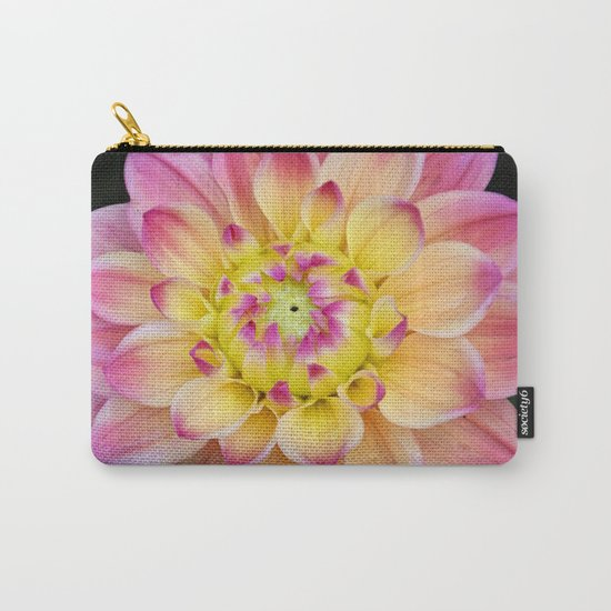 Pink Yellow Dahlia Close up Carry-All Pouch