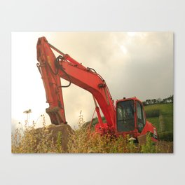 Construction machinery Canvas Print