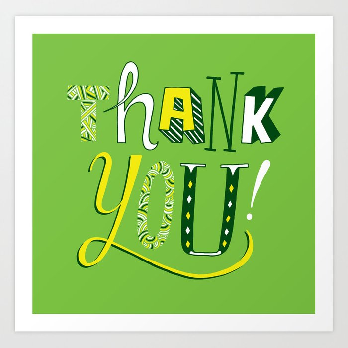 Thank You! Art Print