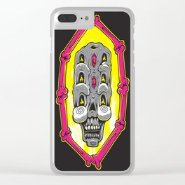 Triple Stacked Skellington Tower Clear iPhone Case